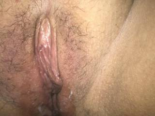 My beautiful wife's freshly fucked pussy🍆🍆💦💦👅