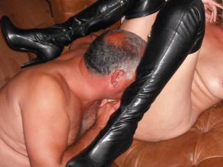 Another pic from our threesome in Europe with our friend. He is very skilled with his tongue.