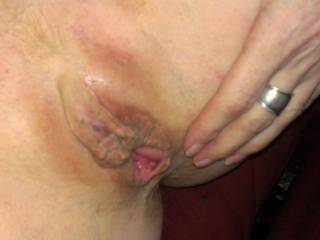 """Love it when a girl spreads her pussy open for me and says """"Hey come over here and use my pussy for all your naughty desires"""""""