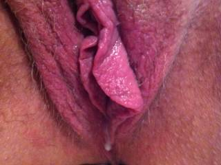 after a good doing with my dildo.dripping wet