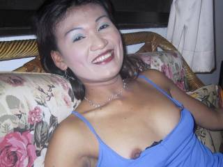 Sexy Phon is flashing her nipples...