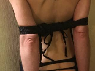 I was slightly tied up at the time....