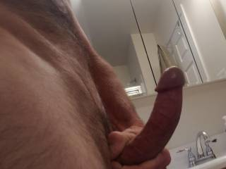 Side view of my dick for Curvyhotwife. Hope you like