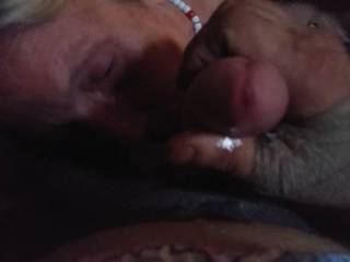Wife sucking in panty