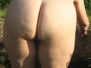 A relatively rare rear view - given the opportunity to take pictures, I prefer the other two Bs, breasts and bush.