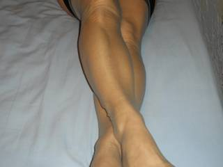 yes it is it is so sexy and hairy i am to busy at those sexy nylon toes first then i will get to the hair but i got to get those toes first