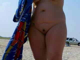 Finally got wife nude on the Beach