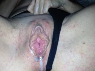 Id love to have seconds and slide my swollen cock in that messy pussy