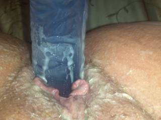 Wow.....would love that to be my cock wet with your pussy cream....
