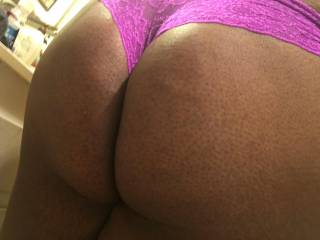 She loves to have her big round black ass spanked and fucked