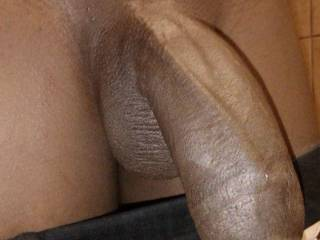 love that big fat chunk of dark meat....put it in my mouth and let me feel your cock throb as it hardens and I suck it you down to your cum filled balls