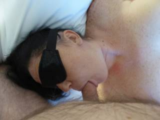 Just a nice slow deep BJ with her hands cuffed behind her back