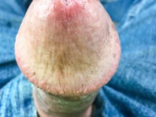 My big mushroom head leaking precum
