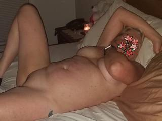 Getting ready to give her my rock hard cock