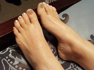 I bet they feel great on your cock and balls!  Do you get to lick and suck and fondle and generally spoil them and her, too?