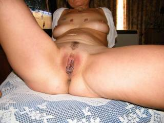 You look so good to eat...mmmmmmmm how much would love to put my pierced tongue so deep...