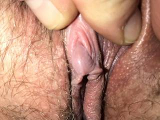 I love this picture of Kiki's swollen clit! She was so horny she was literally begging me to come over and fuck her.