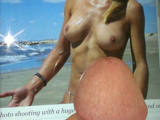 her left boob is looking lonely, I\'ll help out