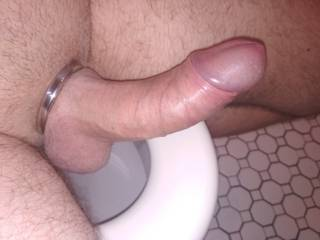 Been wearing cock ring all day; and then this happened :)~