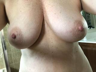 Needing a cock squeezed between these sexy tits.