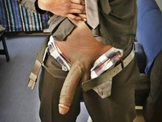 This is just me showing off MY BIG package .  Females older than 21 can apply for some action .