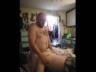 Me fucking that wonderful cock and then my man fucking me so good!