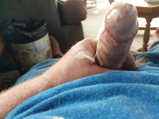 Just my cock!  It needs the cum cleaned off, any volunteers?