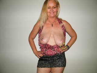 I Love your Full Breast and Large Aerola's.. I would Love to Kiss, Lick and Suck on them. And I not being the Bashful type; I would Gladly Kneel between your Open Thighs and give you Oral SEX and have you CLIMAX in my Mouth until you are totally Exhausted... YUMMY...  Love and Kisses, Maryann