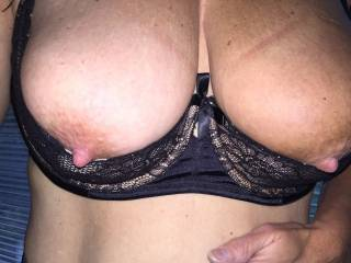 Very sexy bra but those tits are simply stunning! Gorgeous suckable nipples too...