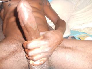 That hot thick big black cock turns me on.  MILF K