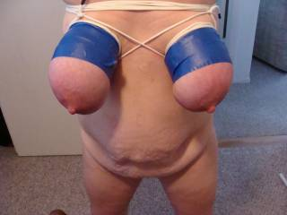 tits tied and taped