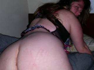 Check out my wife she makes me so hard! I came home from work and she was waiting for me when I came into the room. She told me to spank her ass and then started slowly teasing me by talking dirty (telling me what she wants us to do with other women)
