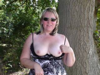 nice tits. I'd love to play with em and then fuck her silly