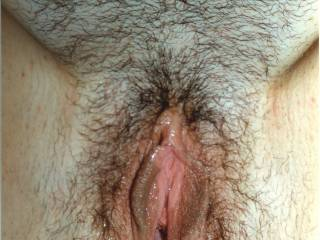 I love inspecting your pussy, babe, especially with you spreading your cuntlips like that. My mouth is watering and my tongue is imagining what it would be like to give you a really good long lick!