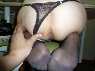 Just HAD to comment - what a beautiful ASS.  I hope you like fingering.