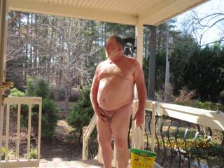 Good looking guy...love being naked outside...