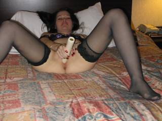 Me and my double dildo would love to have some fun with her...!!!