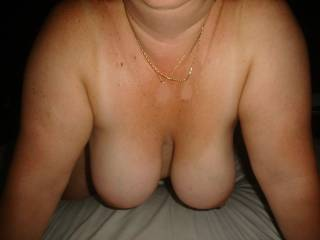 I would love to have my cock between your nice tits...and tit fuck you ...