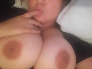 I'd love to try to completely cover those tits in my cum