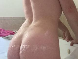 Picture of my wife's sexy ass she sent me while I was in a long training out of town.  Such a great ass!!!
