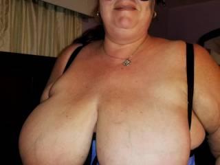 Wife\'s wonderful big tits.