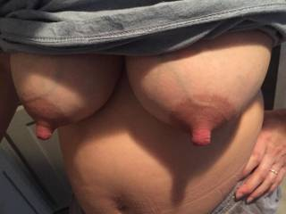 My hot wife completely full!