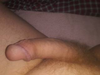 Took this today how many of you ladies would like to suck my cock till i cum in your mouth are you game?
