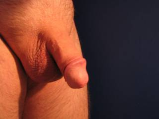 Freshly shaved cock and balls.