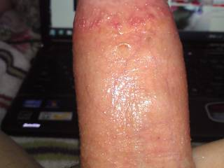 Had to stroke it, do you see the veins in my dick? It\'s throbbing!!