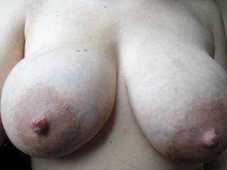 i'd love to put my cock between these and fuck them, maybe you could lick the tip of my cock as i do, then maybe i will cum on your face!