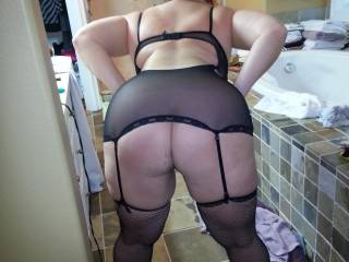 I would love to spank that beautiful ass while your hubby watches, then grab your hips and bury my cock deep inside, balls slapping your swollen clit with each thrust.