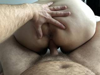 While she is riding his cock, he wants to give you all a closer look. We hope you like what you see ;)