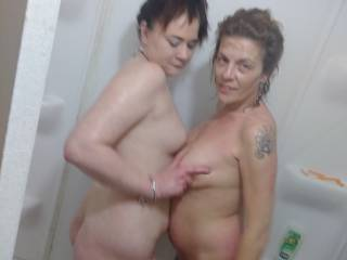 Wanna fuck us in Chuckles shower?