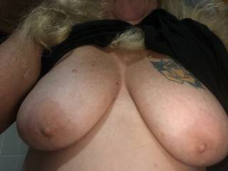 while out to eat last week, having the urge to have these nipples suckled and pulled tight